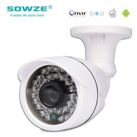 Sowze High Quality Hot sell IP Camera 720P Outdoor Waterproof Bullet Night Version IR 3.6mm Lens P2P ONVIF Housing 1.0MP