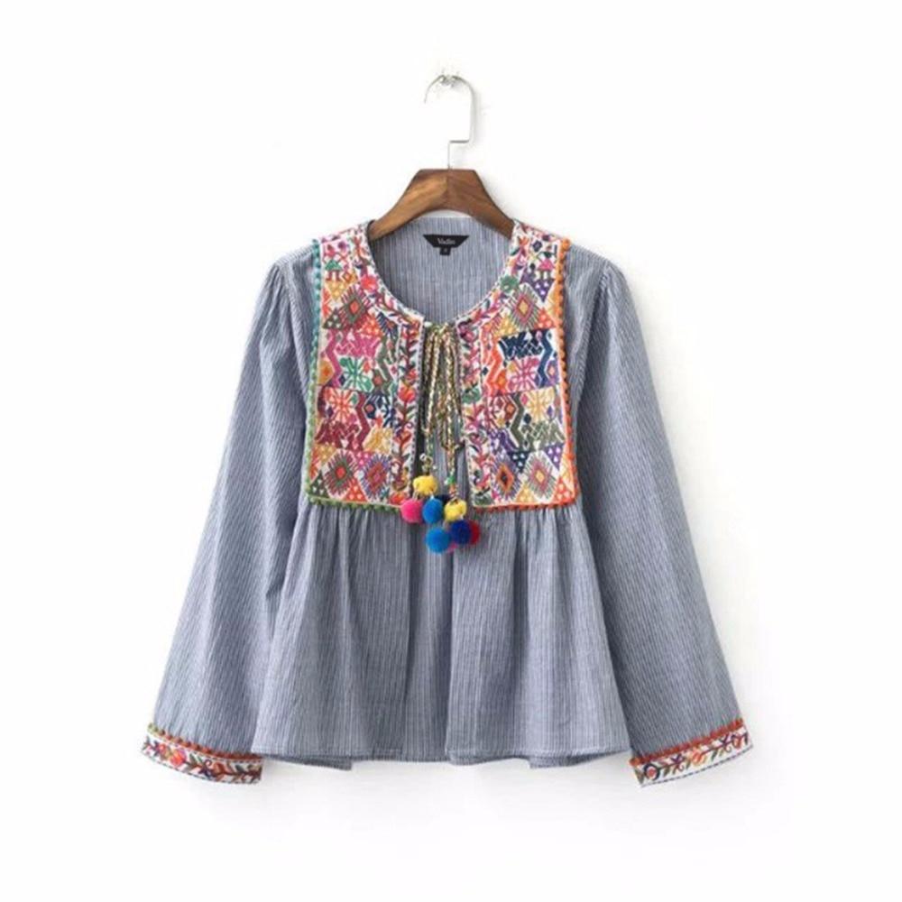 women vintage boho embroidery jacket vintage loose retro pleated coat long sleeve color fur. Black Bedroom Furniture Sets. Home Design Ideas