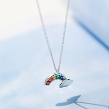 Colorful Rhinestone Rainbow Fashion Necklace Jewelry For Women