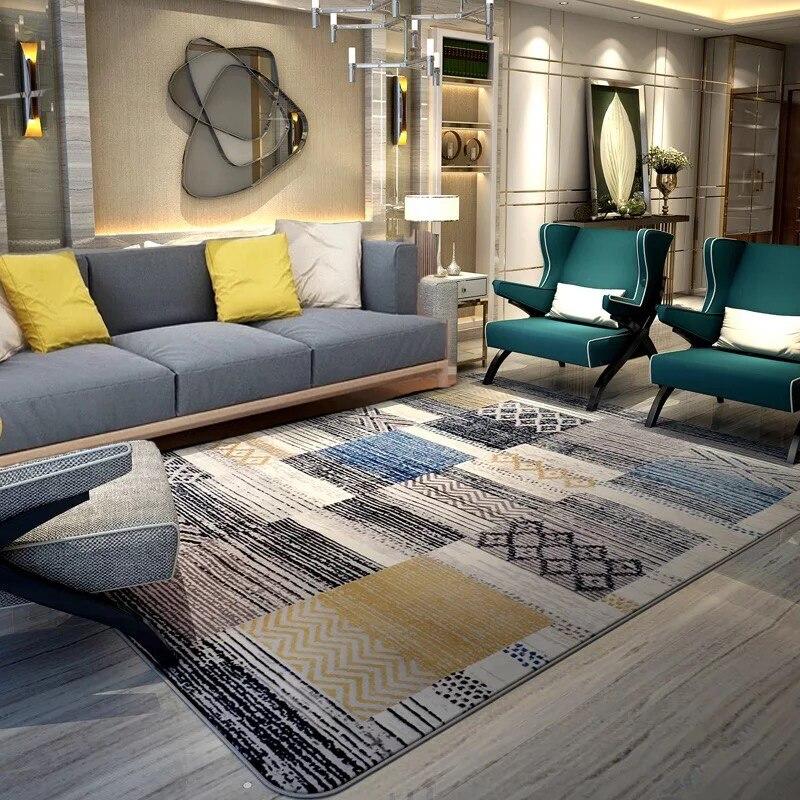 Tapis japonais/coréen pour salon maison chambre tapis canapé Table tapis de sol chambre d'enfants ramper zone tapis abstrait concis