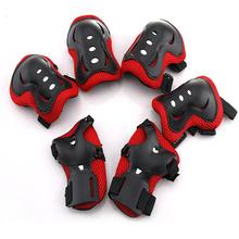 6 pcs Kids Outdoor Sports Protective Gear Knee Pads Elbow Pads Wrist Guards Roller Skating Safety Protection Knee Support smith safety gear crown park elbow pads