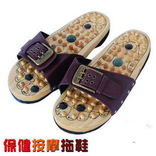 Magnetic Therapy Plus Jade Acupuncture Points Foot Wood Massage Slippers Health Foot Massage Massage Foot Massage electric antistress therapy rollers shiatsu kneading foot legs arms massager vibrator foot massage machine foot care device hot