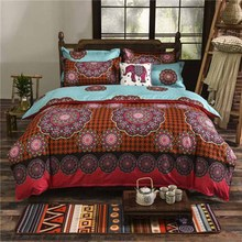 Bohemian Bedding Set Mandala Bed Linen Home Textile Printed Cotton Sheet Pillowcase Twin Full Queen King Size Duvet Cover Set