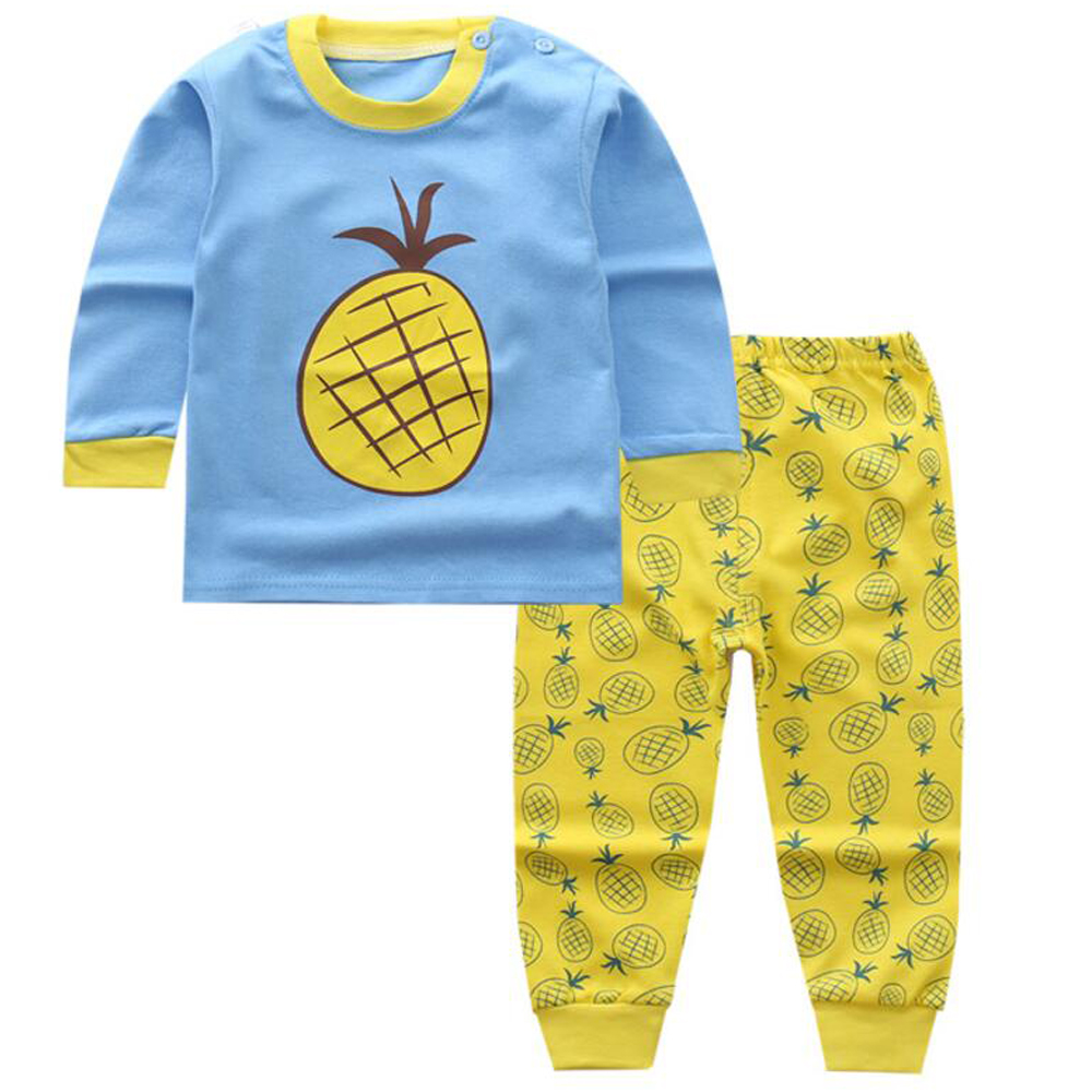 Pyjamas Long Sleeve Baby Pajamas Sleepwear children clothing Boy 1 year Sports Suit for Boy Toddler Boys Clothing Sleeping Wear baby nightwear pajama suit for children pajamas for boys with long sleeve kids pjs sleepwear set children s clothing 1 2 4 year