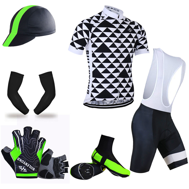 ФОТО Siilenyond Summer Big Cycling Set ! 2017 Cycling Jersey Shorts Sleeve Bicycle Clothing Quick-Dry Bike Clothes Ropa Ciclismo