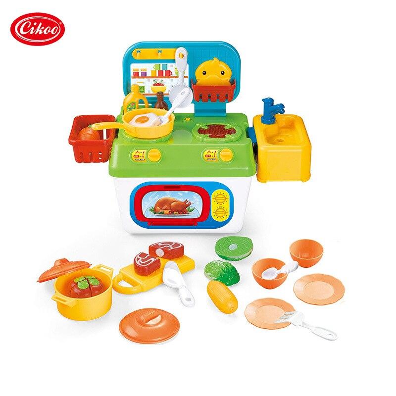 Аутентичные кухонные принадлежности для воды, домашние игрушки, кухни для фруктов и овощей, ролевые игры, игрушки для кукольного домика, кух