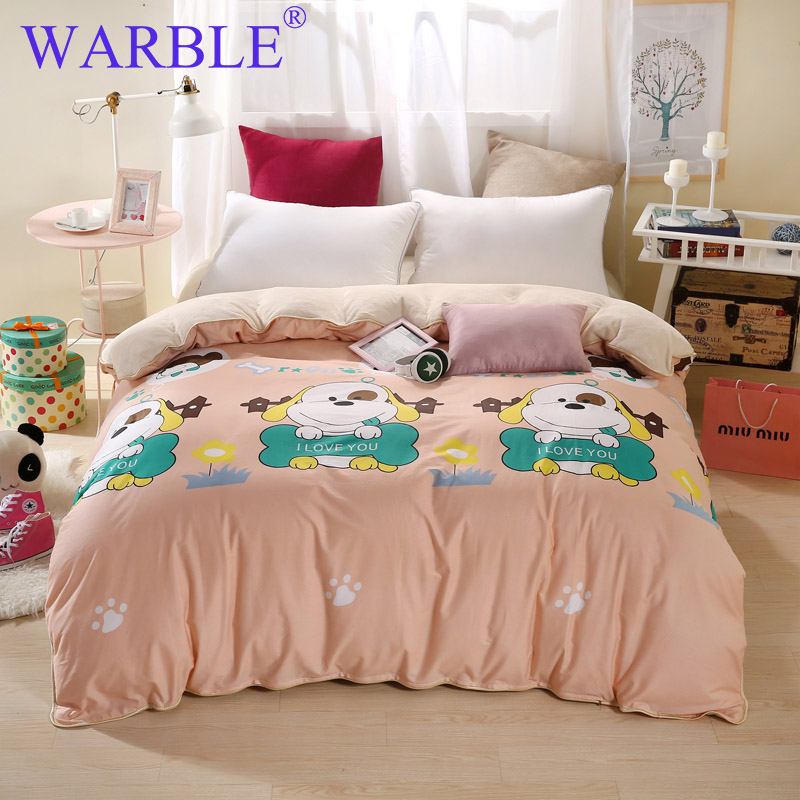Warble King Size Blanket On Bed Double Layers Flannel