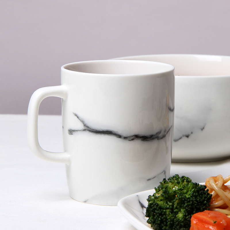 Marble Mark cup cup milk coffee cup breakfast cup cup ceramic cup creative office Кубок