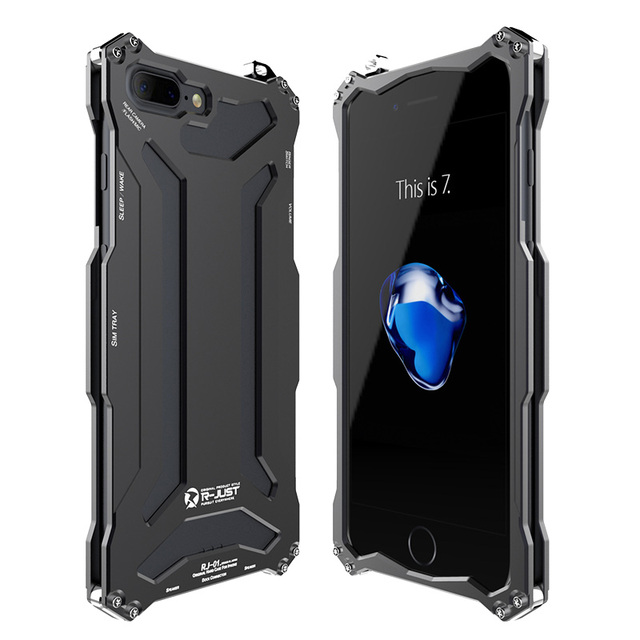 R-JUST Slim metal aluminum Shockproof Cover case for iphone 7 plus 5.5inch outdoor Armor anti-knock phone cases for iphone7 plus