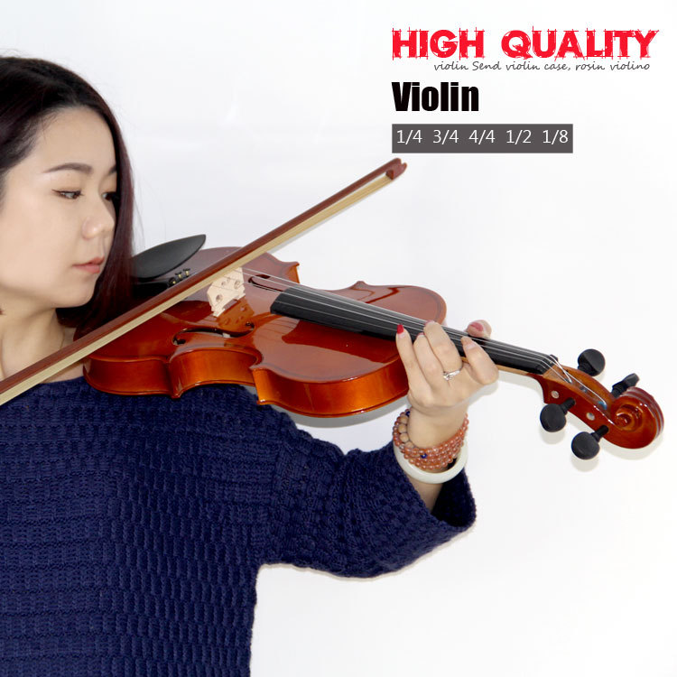 High quality, bailing violin 1/4 3/4 4/4 1/2 1/8 violin Send violin case beautiful sky blue violin high quality china acoustic violin 1 4 3 4 4 4 1 2 1 8 size send with bag