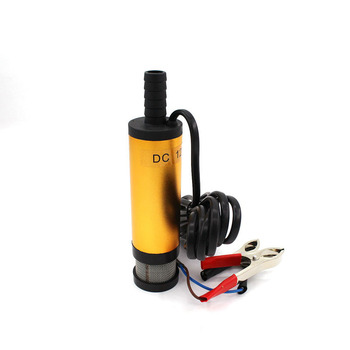 12V 24V DC Electric Submersible Pump For Pumping Diesel Oil Water Fuel Transfer 38MM Aluminum Alloy Shell 12L/min Car Portable 12v 24v dc electric submersible pump for pumping diesel oil water fuel transfer 38mm stainless steel shell 12l min car portable