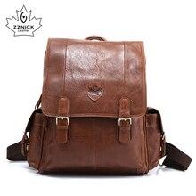 Zzنيك الرجال حقائب الظهر 100% جلد أصلي للرجال حقيبة سفر موضة رجل حقيبة ظهر عادية حقيبة ظهر للعمل الذكور على ظهره 3910