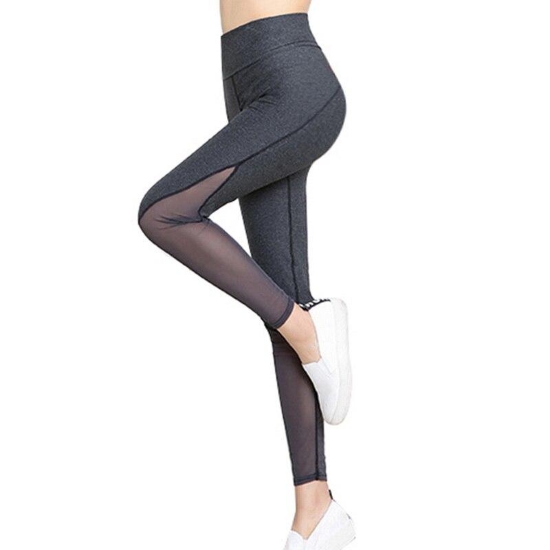 Prix pour Vertvie Courir Legging Femmes De Yoga Pantalon Taille Haute Sexy Maille Sport Collants Pour Jogging Gym Fitness Leggins Ropa Deportiva