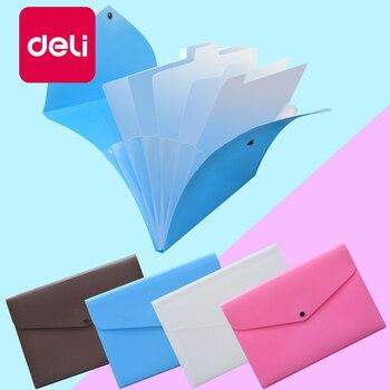 Deli 10PCS File Folder Organ Bag A4 Organizer box Paper Holder Document multi-function storage finishing Office Supplies