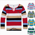 Free shipping!New 2015 Autumn boys t-shirts,child clothes,Casual Korean striped Long sleeve T-shirt,Cotton round neck Top