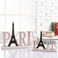 wooden letters for decorations PARIS Eiffel Tower manualidades fashion jewelry gift Restaurant decoration vintage home decor