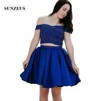 Комплект из 2 предметов платье для возлюбленной для встречи выпускников потрясающий бисерный Роскошные платья для выпускного бала Royal Blue ат