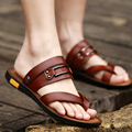 The new summer sandals are sandals men s casual leather sandals summer antiskid dual-purpose slippers