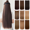 "Cheap hair extension 24"" Long straight heat Resistant  Synthetic alibaba-express  5 clip in hair extensions mega hair"