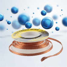 New 1Pc Security 5 ft. 3 mm BGA Desoldering Wire Braid Solder Remover Wick Soldering Accessory Metal Color Tin TU-3015