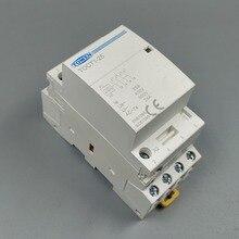 TOCT1 4P 25A 110V катушки 50/60HZ Din rail бытовой ac Контактор В соответствии с стандартом 4NO или 2NO 2NC контакторы
