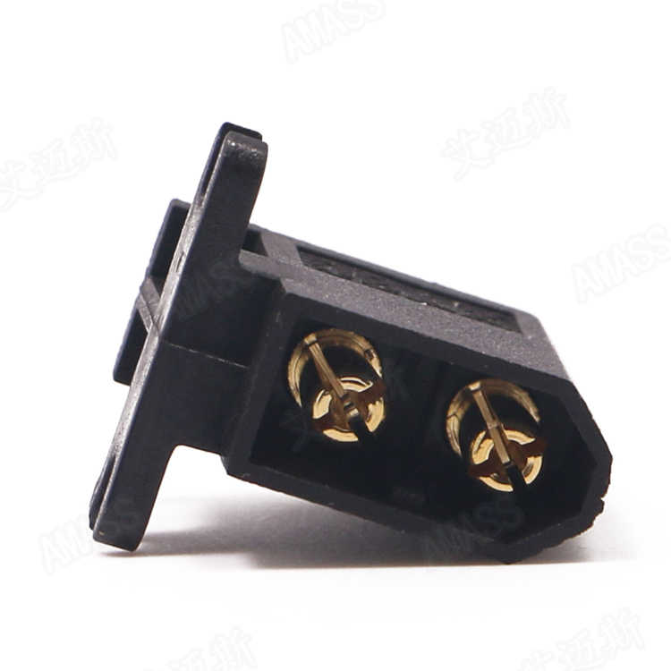 10 unids/lote AMASS Brack XT60-C conector lateral Horizontal Compatible con conectores de cabeza hembra serie XT60