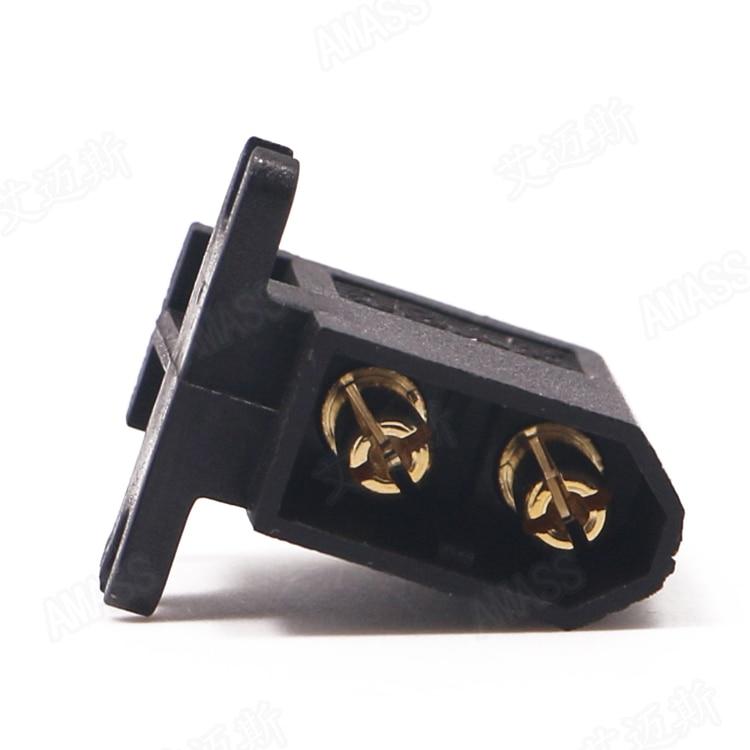 10 Pcs/lot AMASS Brack XT60-C Connector Side Horizontal Plug Compatible With XT60 Series Female Head Connectors