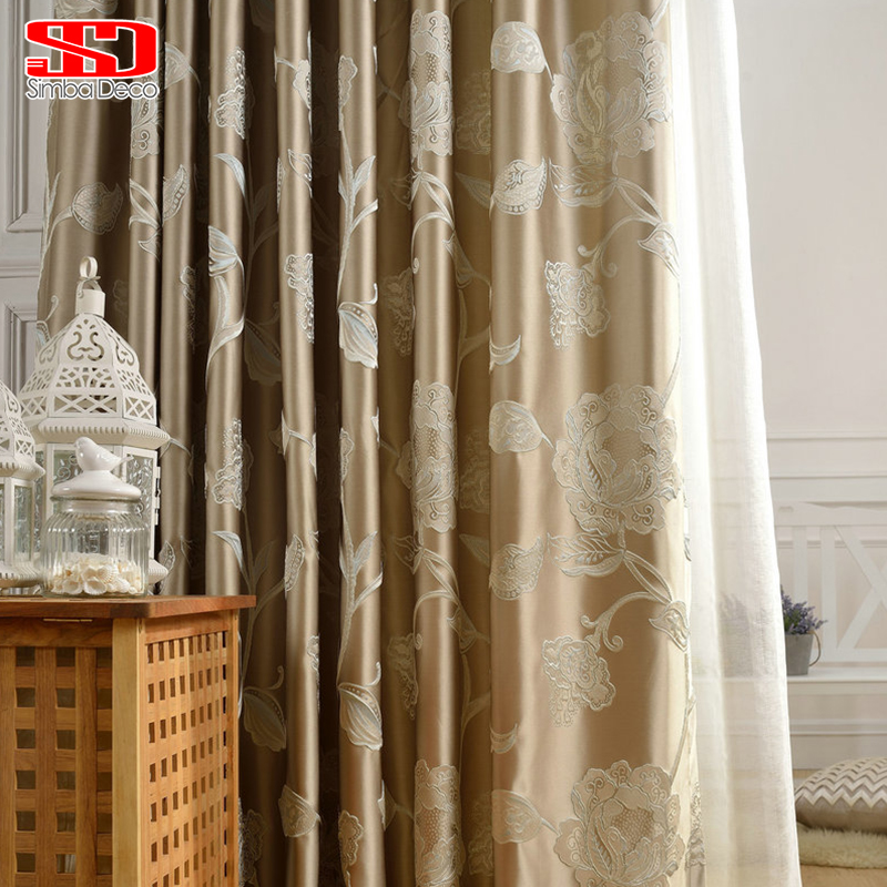 Luxury Curtain Fabric Blackout Curtains For Bedroom Drapes For Living Room Blinds Silk