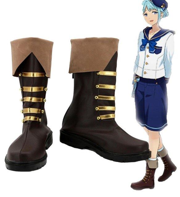 Ensemble Stars Shino Hajime Cosplay Shoes Boots Custom Made