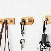 Nordic Fashion 3M Sticky Key Hanger Coat Hanger 304 Steel Wall Hook Decorative Key Holder Wall