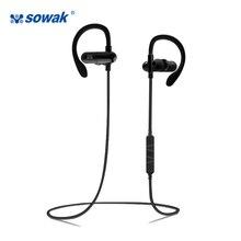 Sowak W1 Noice Cancelamento de Fones De Ouvido Sem Fio Fones de ouvido Bluetooth 4.1 Aptx esportes 3D estéreo de Alta Fidelidade com microfone gancho do ouvido para o telefone