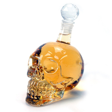 Modern Glass Skull Bottle