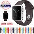 38mm S/M/L de Silicone Banda Colorida Com Adaptador de Ligação Para apple watch série 1 série 2 para iwatch esportes fivela pulseira