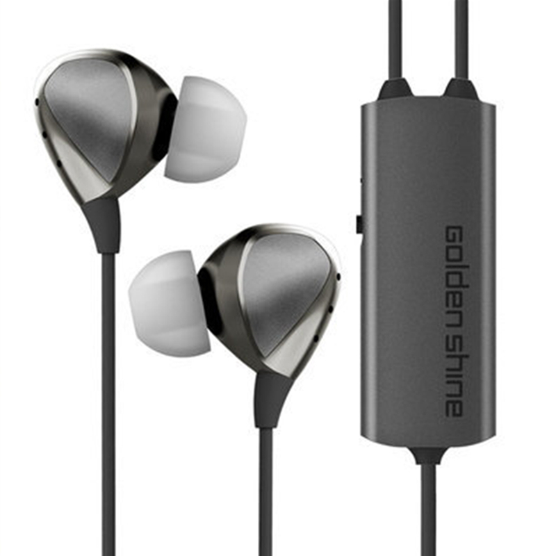 New Arrivals Active Noise Cancelling Headphone Metal In Ear Earphone HiFi Headset With Microphone Reduce 35dB 233621 e610 active noise cancelling ear buds 3 5mm in ear earphone hifi high quality stereo headset with mic for mobile phone