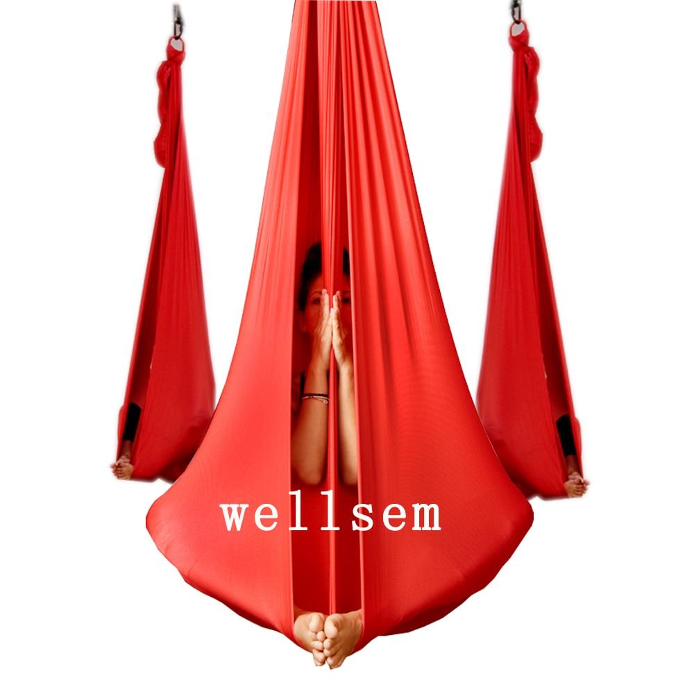 Yoga Flying Swing Anti Gravity yoga hammock fabric Aerial Traction Device Yoga hammock Equipment for Pilates body shaping