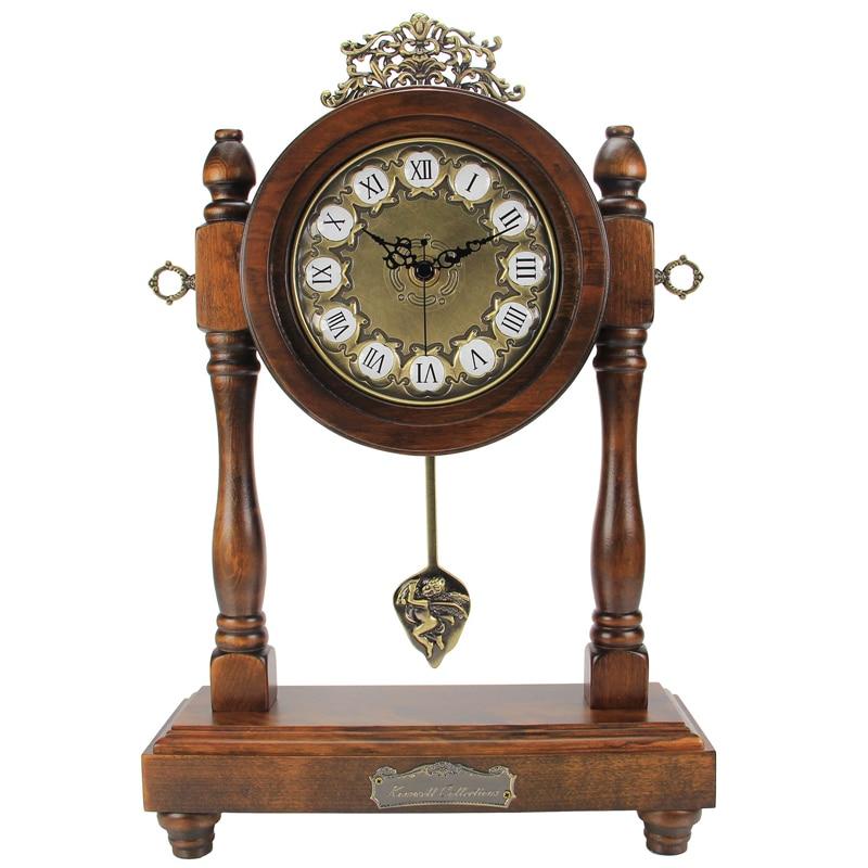 New 2016 Fashion Retro classic European style desk clock wooden Vintage  home antique Relogio De Mesa decoration Desk clocks KZ05-in Desk & Table  Clocks from ... - New 2016 Fashion Retro Classic European Style Desk Clock Wooden
