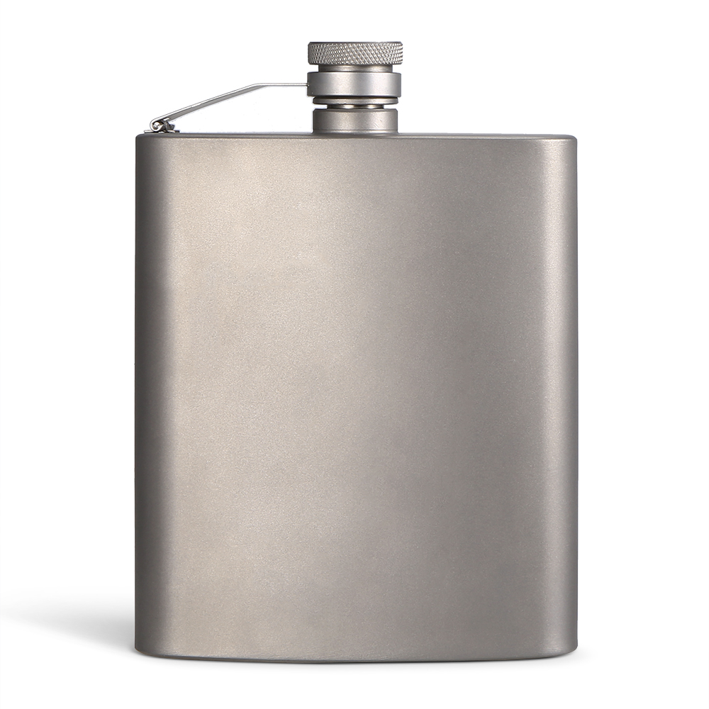 200ML Outdoor Titanium Flask Liquor Ultra Light Flat Hip Flask Outdoor Camping Picnic Hiking Flask hot sale portable outdoor camping travel stainless steel hip flask
