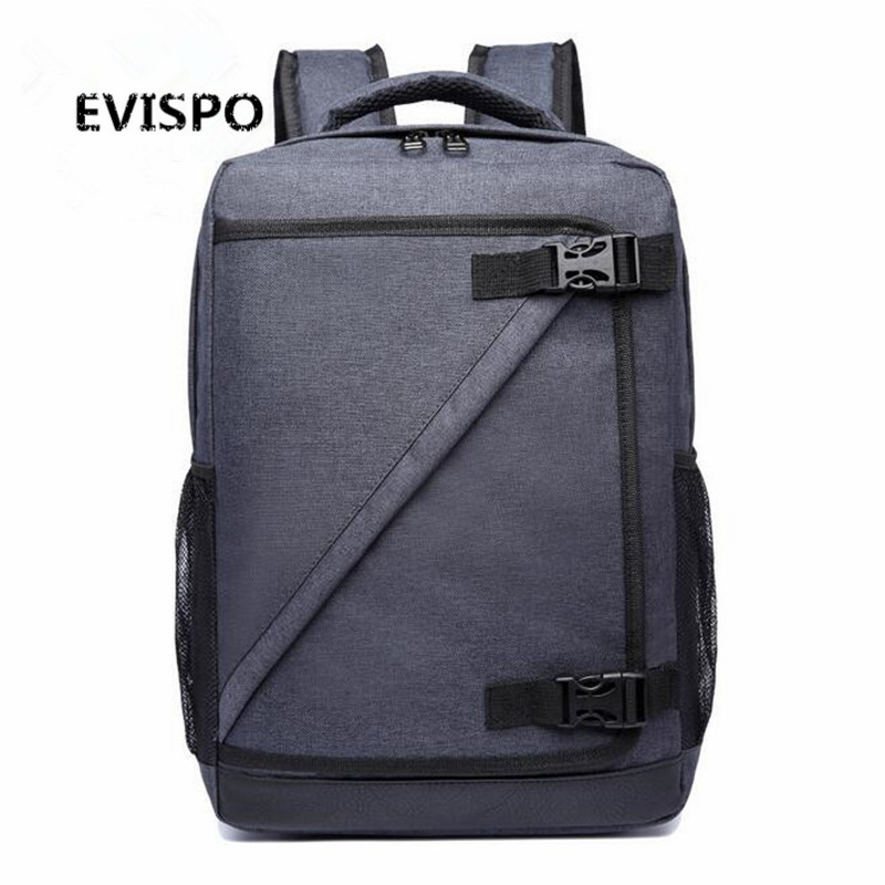 2016 Men s Backpack Black Nylon EVISPO Waterproof Bag Backpack for Male Mochila 16 5 Inch