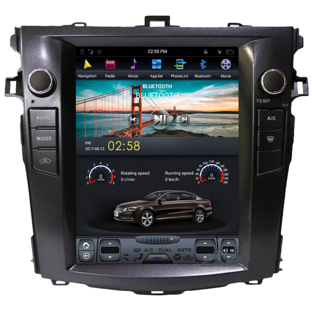 10 4 Inch Vertical Screen Tesla Style Android Car Dvd Gps