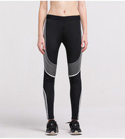2017 Fashion Women's Sporting Push Up Skinny Leggings Fitness Workout Leggings Leisure Striped Printed Breathable Women Leggings