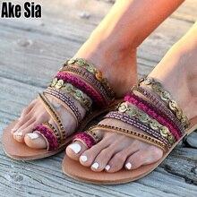 Southeast Bohemia Summer Fashion Ladies Women Female Thong Sandals Flat Flip Flops Beach Casual Slides Slippers Mules Shoes A660