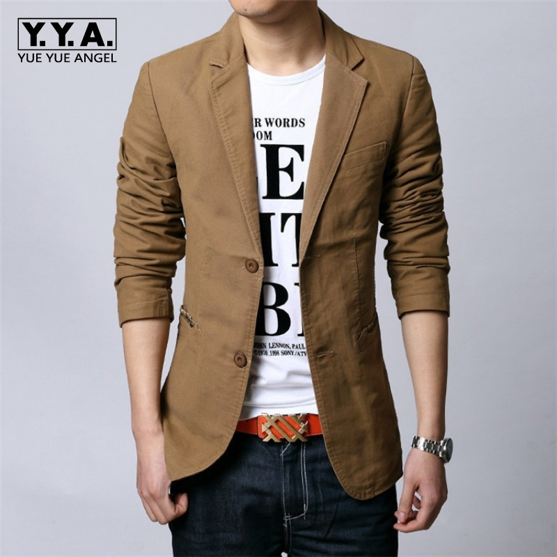 Spring Autumn New Single Breasted Suit Jacket Men Fashion Slim Blazer Black Casual Work Career Male Coats Tops Plus Size 6XL