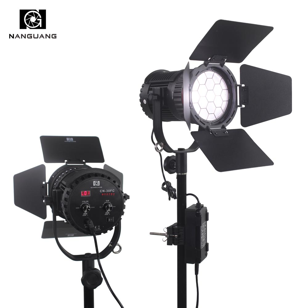 30 Вт двухцветный светодиодный Френеля свет 3200 К 5600 К + светло сумка + ЖК дисплей Дисплей + APP/2,4 г удаленного Управление для кинематографистов