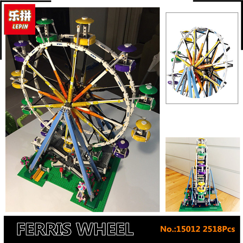 IN STOCK  2518pcs New Lepin 15012 City Street Ferris Wheel Model Building Kits Blocks Toy Compatible with 10247 gifts lacywear s52715 2518 2542