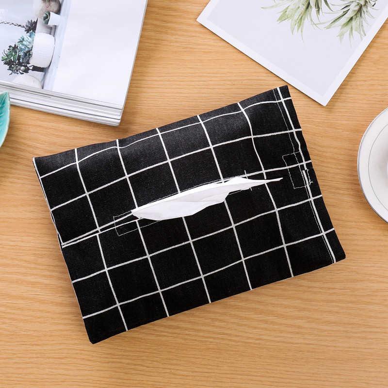 Caixa de Tecido de Linho de algodão Toalha Guardanapo Caso Carro Para Casa Saco de Armazenamento De Papel Cobrir Titular Tissue Dispenser Organizador do Desktop Decoração Da Sua Casa