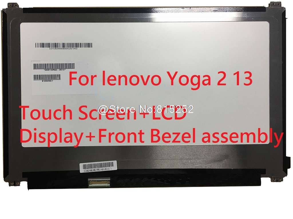 Laptop Touch Screen+LCD Display+Front Bezel assembly For lenovo Yoga 2 13 20344 B133HAN02.0 LP133WF2 SP A1 1920x1080 13.3 New image