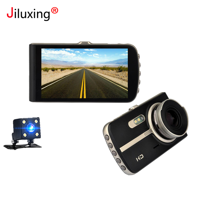 Jiluxing 1080P 4 Inch Car DVR two cameras Video Recorder Car cameras rearview mirror Auto Dash Cam Night Vision Registrator sinobi ceramic watch women watches luxury women s watches week date ladies watch clock montre femme relogio feminino reloj mujer