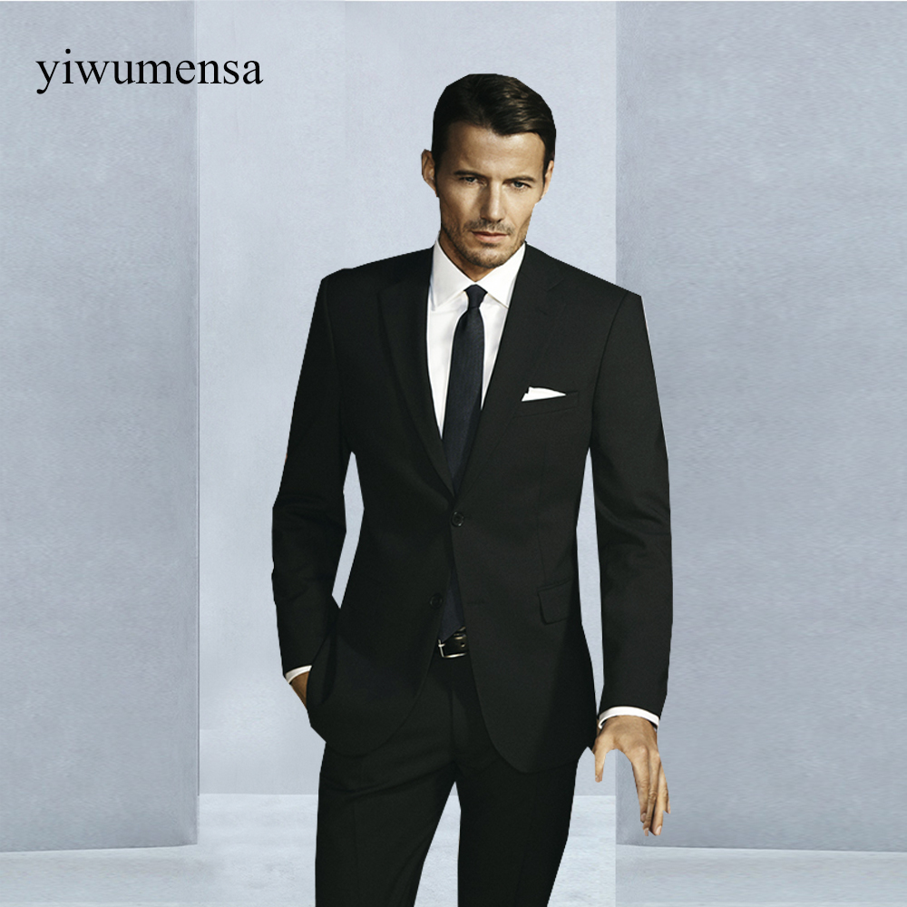 YWMS 37 Brand costume mariage homme Two pieces men suit wedding ...