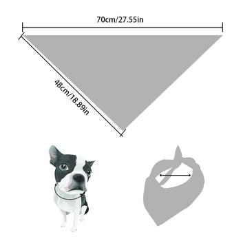 5PCS/Set Halloween Dog Triangular Bandage Pet Saliva Towel Dog Scarf Skull Pumpkin Print Bandanas for Halloween Party Decor 20E 2
