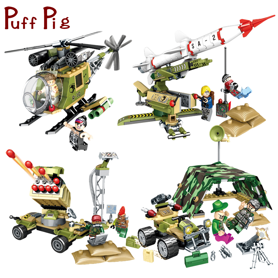 4Sets Military Force World War Helicopter Soldiers Figures Building Blocks Bricks Compatible Legoed Army Enlighten Children Toys new model 340pcs military helicopter special forces war building blocks set army soldiers figures bricks toy for lepins children